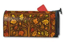 Branches of Autumn Tree Fall Magnetic Mailbox Cover Mailwrap