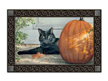 Black Cat Fall Indoor / Outdoor Doormat