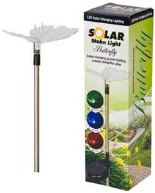 Headwind Consumer Products 830-1301 Solar Stake Light Color Changing Butterfly