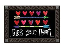 """Hearts and Arrows Valentine's Day Doormat Love Indoor Outdoor 18"""" x 30"""""""