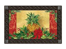 "Christmas Pineapple MatMates Doormat - 18"" x 30"""