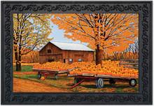 """Pumpkinville Fall Doormat Autumn Farm Scene Pumpkins Indoor Outdoor 18"""" x 30"""""""