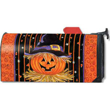 Jack In The Hat Halloween Oversized Large Magnetic Mailbox Cover Mailwrap