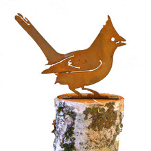 Elegant Garden Design Cardinal, Steel Silhouette with Rusty Patina