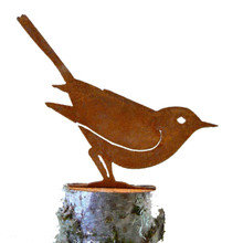 Elegant Garden Design Brown Thrasher, Steel Silhouette with Rusty Patina