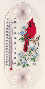 Aspects Cardinal/Dogwood Window Thermometer