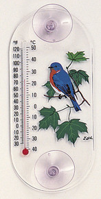 Aspects Bluebird Maple Window Thermometer