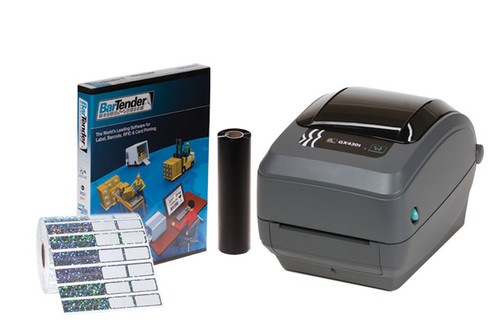 BZK-31 printing kit with printer, software, ribbon and labels. Great for inventory control of jewelry and optical frames