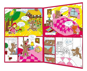 Little Red Riding Hood Comic - Magnetic Colour In Play Scene example