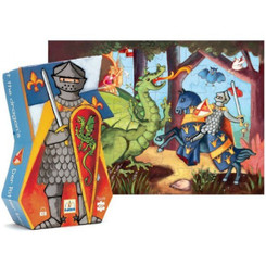Knight & Dragon - Silhouette Puzzle by Djeco