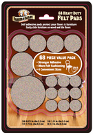Heavy Duty Felt Pads: 68 Pieces