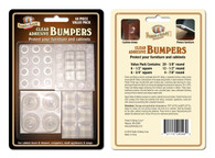 Parker & Bailey Clear Adhesive Bumpers: 48 Pack