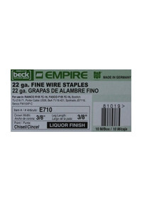 "Empire 22 Gauge 3/8"" Fine Wire Staples - Liquor Finish"