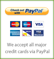 We accept all major credit cards via Paypal