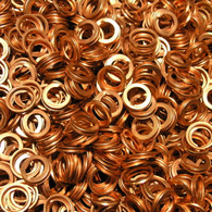 Nissan Sump Washers OE 11026 01M02 - Copper Folded Washers 11 x 17 x 3 mm