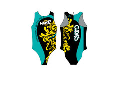 North Beach Womens TURBO Water Polo Suit