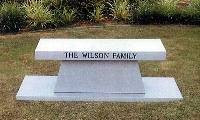 BENCH Cremation with family name   Call for pricing