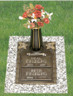 D-GB203 V1 Double internment bronze over granite for cremated remains.