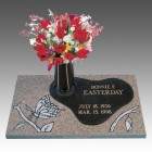 GB357 V1 CHILD  Granite with Bronze   Butterfly   Call for pricing