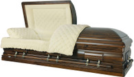 W-8897-FS Solid Black Walnut hardwood casket