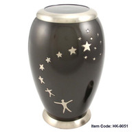 Urn HK 9051 Bronze with Stars   Unique design