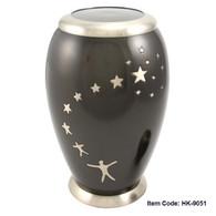 Urn HK 9051 Bronze with Stars