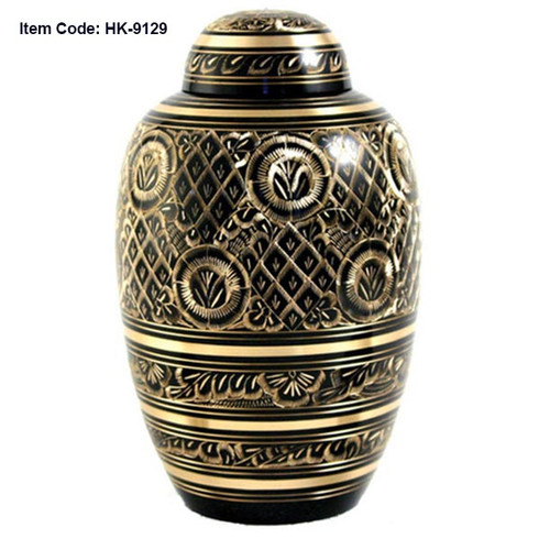 Urn HK 9129 Bronze Black with Gold
