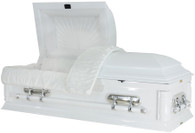 W8931 Childs Solid wood white casket