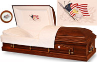 W-7863-FS Solid Poplar with American Flag / Eagle head panel