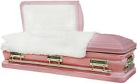 M-8399-FS  - Bubble Gum Pink Finish, 18ga White Velvet, Silver Hardware