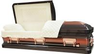 W-4585-FS  - Brown with Copper Brush 18ga Beige Velvet, Copper hardware