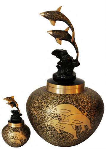 Urn FS 136-A Brass Dolphin w/token