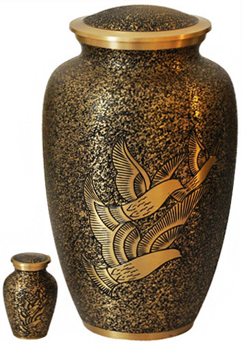 Urn 183-A - Brass Urn Velvet Box plus 1 Keepsake