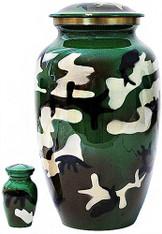 Urn FS 323-A - Brass Urn Velvet Box plus 1 Keepsake Camo