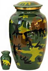 Urn FS 319-A - Brass Urn Velvet Box plus 1 Keepsake