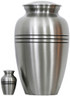 Urn FS 137-A - Brass Urn Velvet Box plus 1 Keepsake Silver
