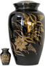 Urn FS 012-A - Brass Urn Velvet Box plus 1 Keepsake Black/ Mirror Finish