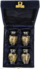 Urn FS 012-C - 4 Mini Brass Urn Velvet Box