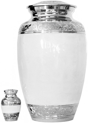 Urn FS 011-A - Brass Urn Velvet Box plus 1 Keepsake