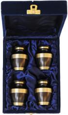 Urn FS 021-C - 4 Mini Brass Urn Velvet Box