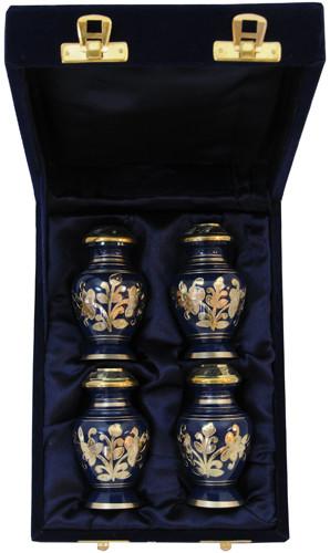 Urn FS 042-C - 4 Mini Brass Urn Velvet Box