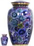 Urn FS 060-A - Brass Urn Velvet Box plus 1 Keepsake Pink with Multi colored Flowers
