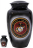 Urn FS 306-A - Brass Urn Velvet Box plus 1 Keepsake Marine Corps