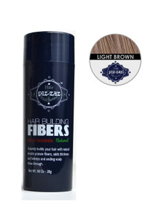 Hair Building Fibers -Light  Brown