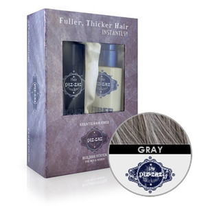 Hair Fibers & Spray Kit - Grey