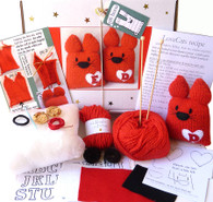 Love Cats Knitting Kit Contents