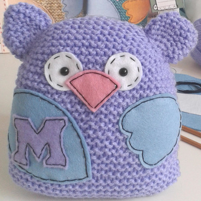 Personalised Little Hoot Handknitted Owl