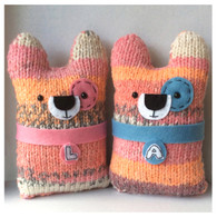 Personalised Wedding LovePups *Readyknitted*