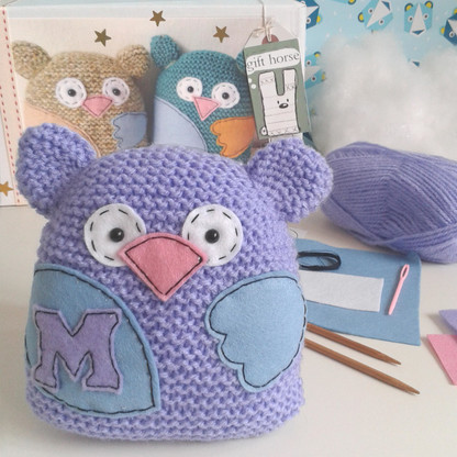 Owl Learn To Knit Kit