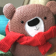Cuddly Christmas Teddy Knitting Kit